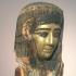 An Egyptian gilt cartonnage mummy mask image