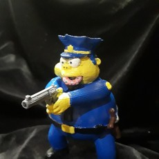 Picture of print of Chief Wiggum 3D