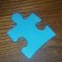 Autism Awareness Puzzle Piece - Light it up blue print image