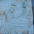 """Votive relief showing a """"funerary banquet"""" image"""