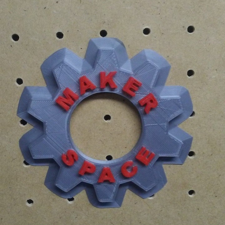 Maker Space Wall Gear Deco