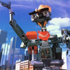 Picture of print of Johnny 5 robot from short circuit film