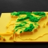 spain, mountain ranges 3D relief image