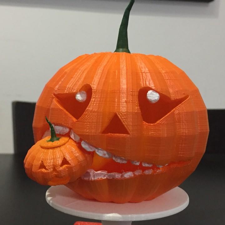 Pumpkin candy basket
