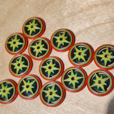 Picture of print of Scythe Encounter Tokens