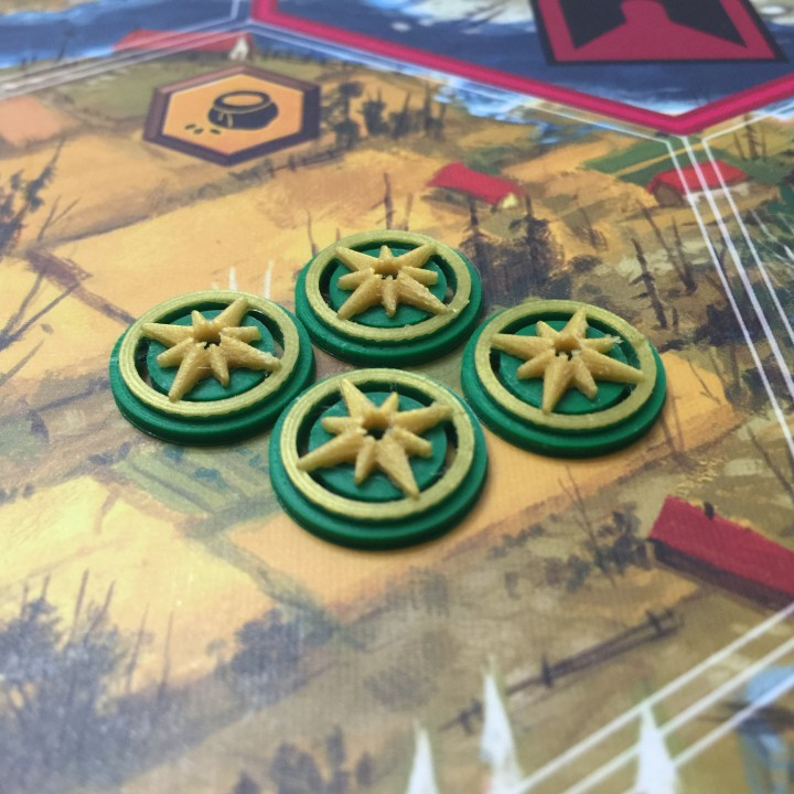 graphic regarding Printable Tokens titled 3D Printable Scythe Knowledge Tokens as a result of Adam Luter