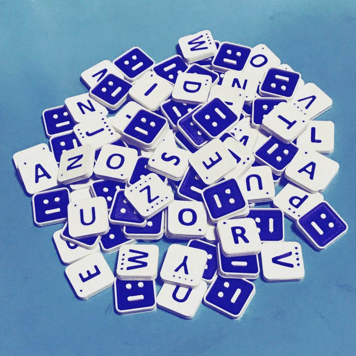 image regarding Scrabble Tiles Printable called 3D Printable Scrabble Tiles through spark