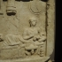 """Relief inscribed stele depicting a """"funeral banquet"""" image"""