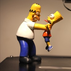 Homer and Bart 3D