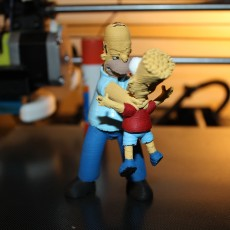 Picture of print of Homer and Bart 3D