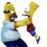 Homer and Bart 3D image