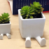 Succulent Planter / 3D printed planter / Legged Planter image