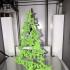 Christmas tree print image