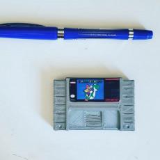 Picture of print of Mini SNES Cartridges