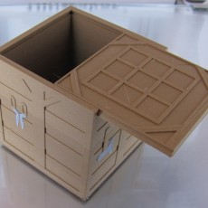 Crafting Table Box with Sliding Lid