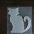 Black cat magnet image