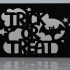 Halloween trick or treat magnet image
