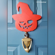 Picture of print of crazy halloween pumpkin