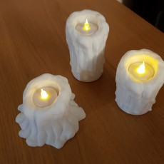 Picture of print of Melting Candle Tea Light Candle Holders