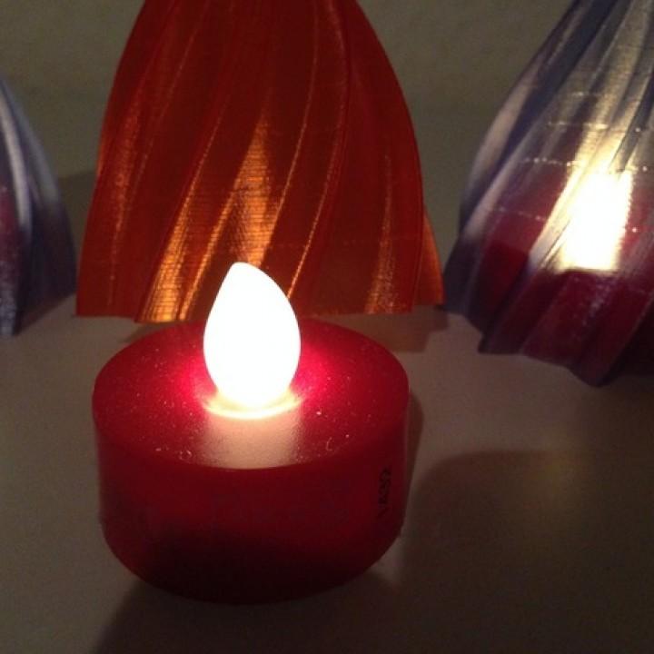 IKEA Hack Christmas Decor for LED Candles