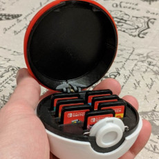 Picture of print of Pokeball Switch Cartridge Case