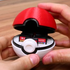 Pokeball Switch Cartridge Case
