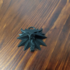 Picture of print of WItcher III medallion