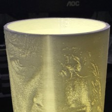 Picture of print of Star wars the last jedi lithophane lamp