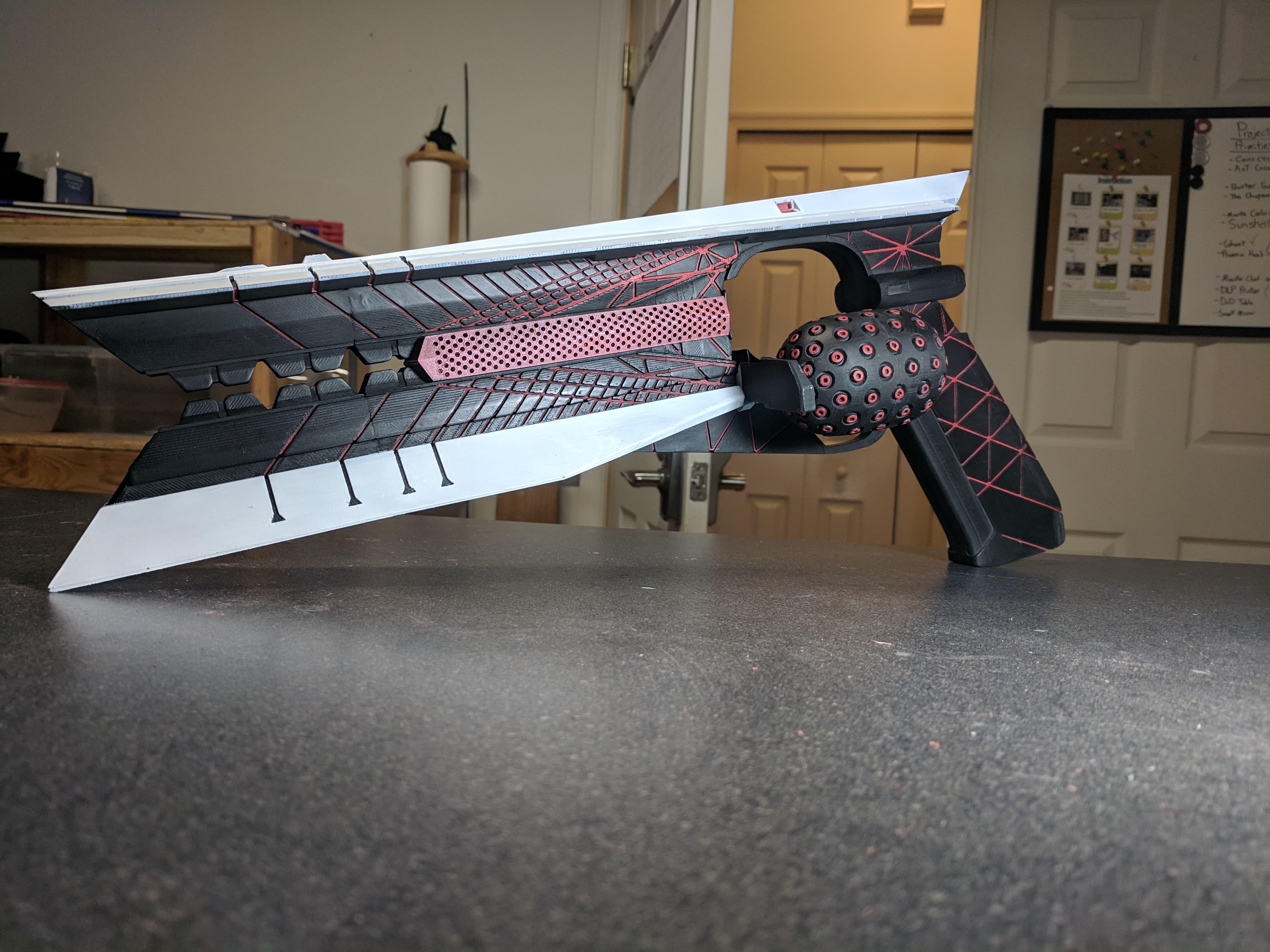 3D Printable Destiny 2 Red Dwarf Sunshot Hand Cannon 200mm Version