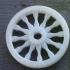 Wagon wheel pendant or ornament image
