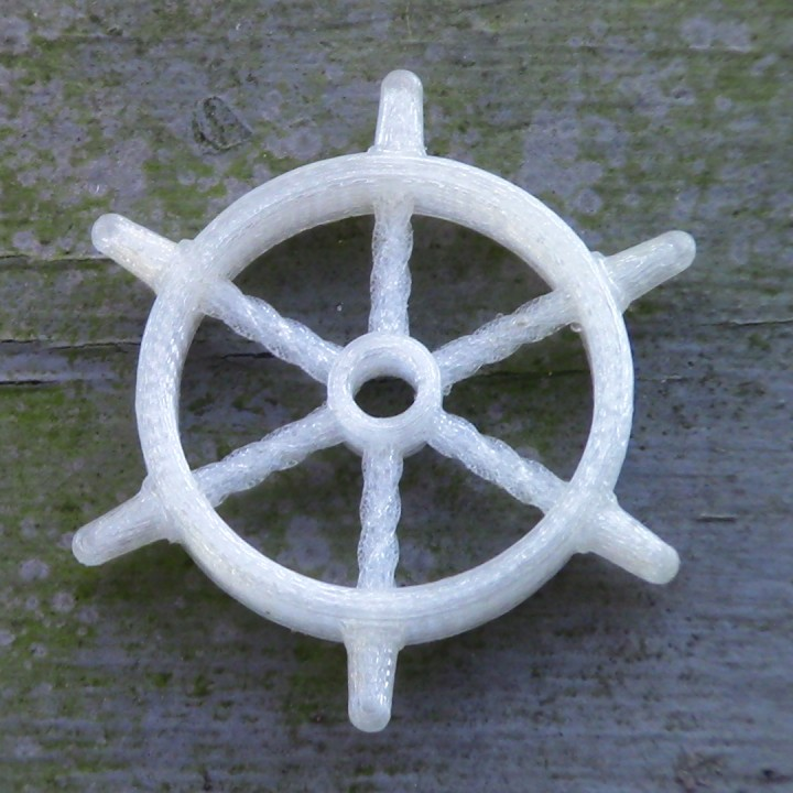 Ship wheel pendant or ornament