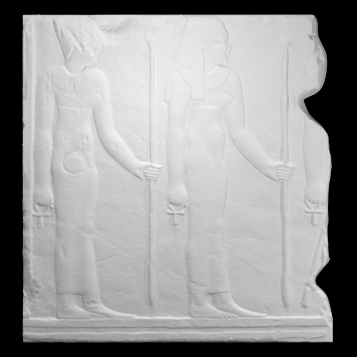 Relief fragment of two goddesses