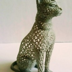 Picture of print of Cat design Voronoi This print has been uploaded by Török István