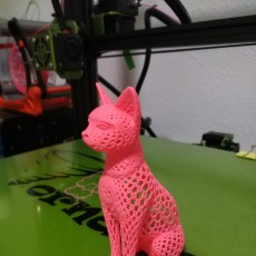 Picture of print of Cat design Voronoi