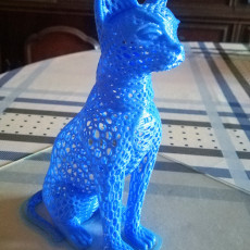 Picture of print of Cat design Voronoi This print has been uploaded by Emilio Sanjuán Pérez