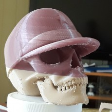 Picture of print of Skull with military cap