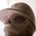 Skull with military cap image