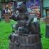 Bear on a Barrel image