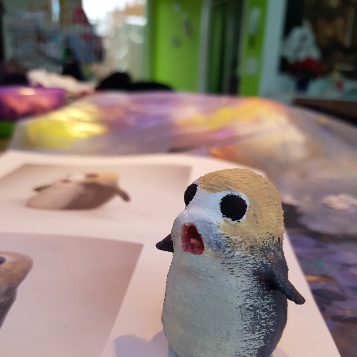Picture of print of Screaming Porg - Star Wars The Last Jedi This print has been uploaded by Mike Rafalski