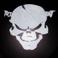 Skull Trick OR  Treat ? Door Hang With Question mark