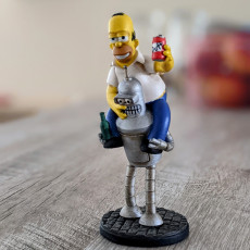 Picture of print of Homer+Bender 3D