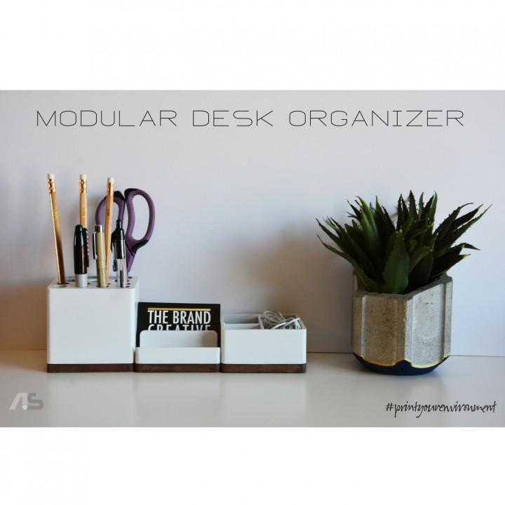 3d Printable Modular Desk Organizer By