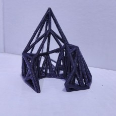 wireframe polygon sculpture