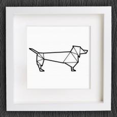 Customizable Origami Sausage Dog / Dachshund