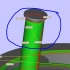 (somksy bearing with solid of constant width rollers) image