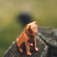 Picture of print of Low-poly Pug