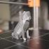 Low-poly Pug print image