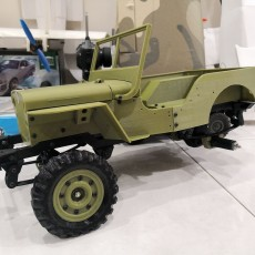 MB Jeep Wheel and Tyre 1/6 1/7 scale (133% of original)