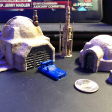 Picture of print of Desert Sci-Fi Buildings