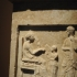 """Funerary stele with a """"women's quarters scene"""" image"""